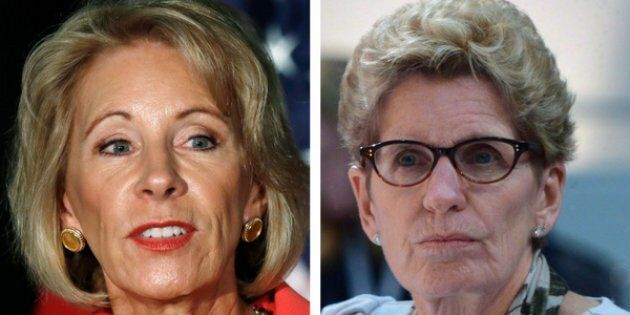 The NDP called on the Ontario government to not allow Betsy DeVos to tour schools in the province — a...