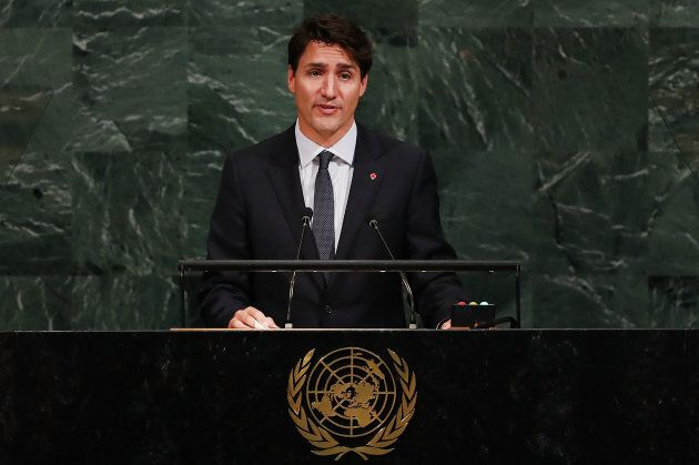 Prime Minister Justin Trudeau speaks to world leaders at the 72nd United Nations (UN) General Assembly...