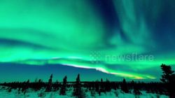 WATCH: The Northern Lights Look Stunning Over The Canadian
