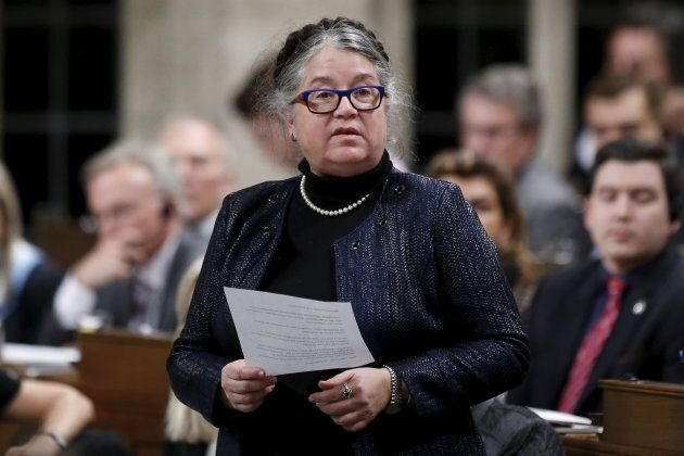 Canada's Revenue Minister Diane Lebouthillier speaks during Question Period in the House of Commons on...