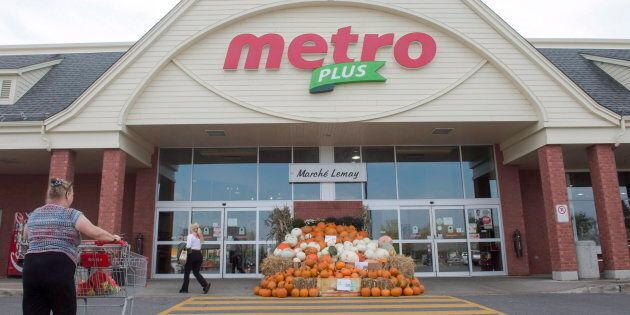 A Metro supermarket in Ste. Marthe-sur-le-Lac, Quebec, Wednesday, Sept. 27. Metro Inc. says it will eliminate...