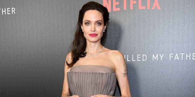 Angelina Jolie attends the 'First They Killed My Father' New York premiere on September 14,