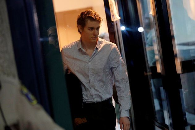 Brock Turner, the former Stanford swimmer convicted of sexually assaulting an unconscious woman, leaves the Santa Clara County Jail in San Jose, Ca. on Sept. 2, 2016.