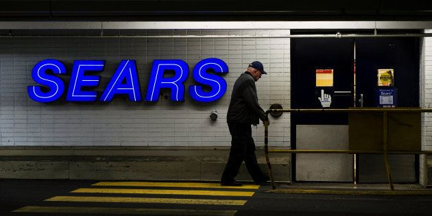 A customer enters the Sears store in North Vancouver, B.C. Feb. 23,
