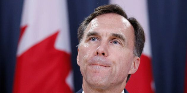 Canada's Finance Minister Bill Morneau takes part in a news conference in Ottawa, Ontario, Canada, July...