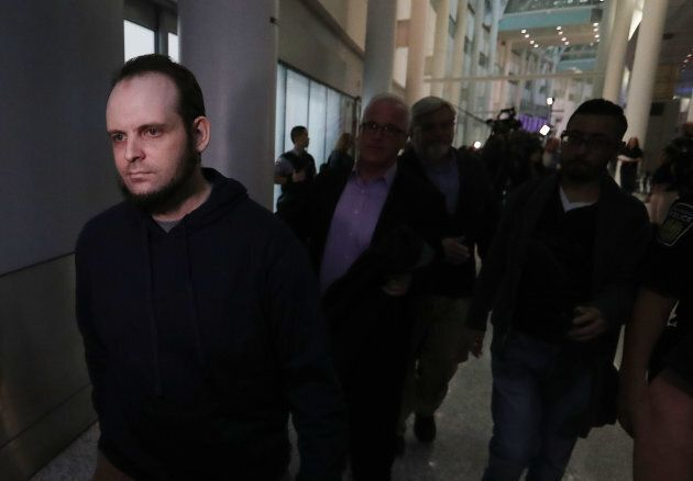 Joshua Boyle leaves after speaking to the media at Pearson International Airport in Toronto. Boyle and...