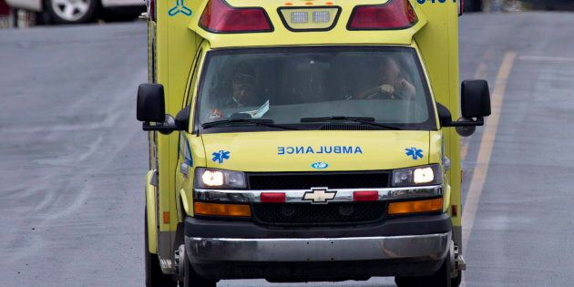 Ambulances outside of Royal Victoria Hospital in Montreal, on April 26, 2015. On Saturday, a 33-year-old...