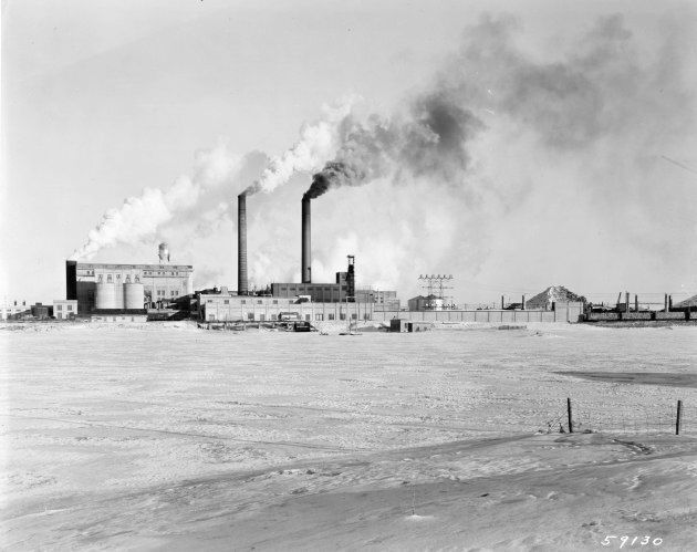 Spruce Falls Power and Paper Company, Kapuskasing, Ont., 1955.