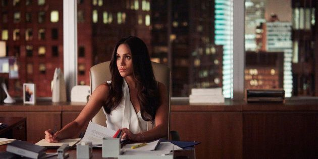 Meghan Markle shown here playing Rachel Zane on a season seven episode of 'Suits.'