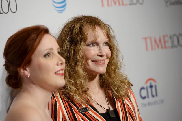 Dylan Farrow and Mia Farrow attend 2016 Time 100 Gala on April 26, 2016 in New York City.