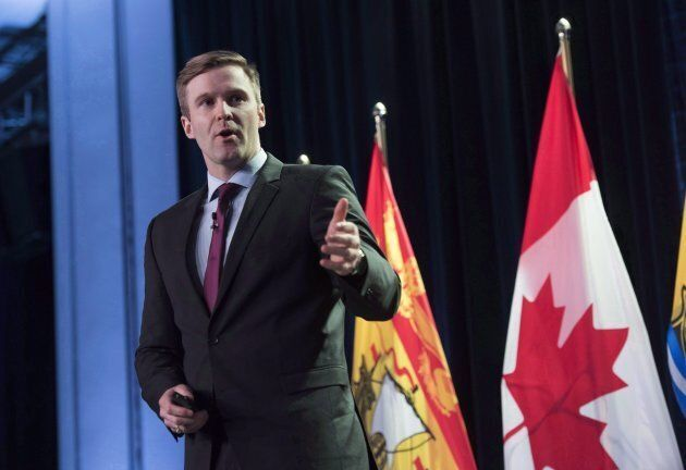 New Brunswick Premier Brian Gallant delivers the State of the Province address in Fredericton, N.B., on Jan. 26, 2017.