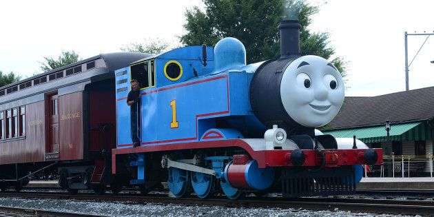 Thomas the Tank Engine arrives at Strasburg Rail Road for Thomas & Friends: A Day Out with Thomas Tour...