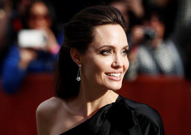 Angelina Jolie arrives on the red carpet at the Toronto International Film Festival (TIFF) in Sept. 2017.