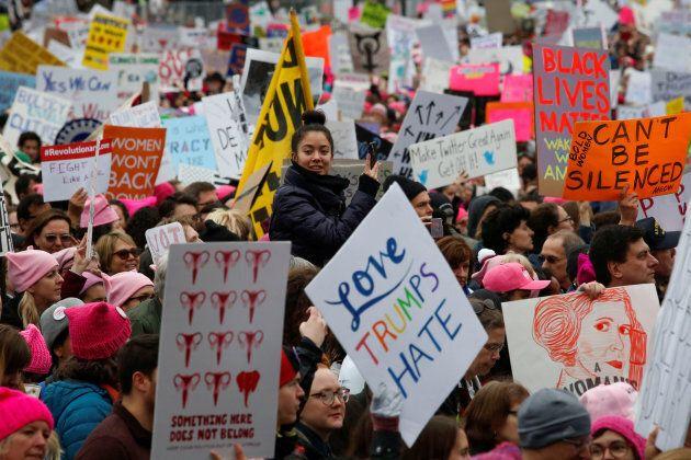 The Women's March in Washington, D.C., on Jan. 21, 2017.