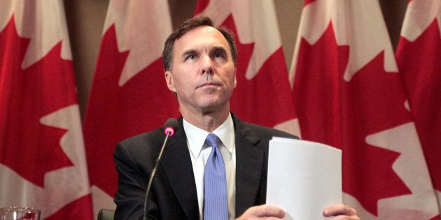 Finance Minister Bill Morneau makes an announcement in Toronto on Oct. 3,