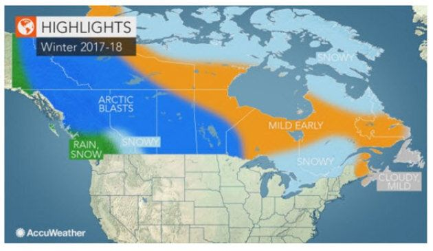 Canada Winter Forecast Predicts Lots Of Snow, Arctic