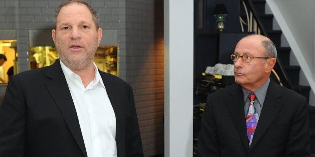 Harvey Weinstein and Peter Bart attend the launch party for Bart's book 'Infamous Players' in New York...