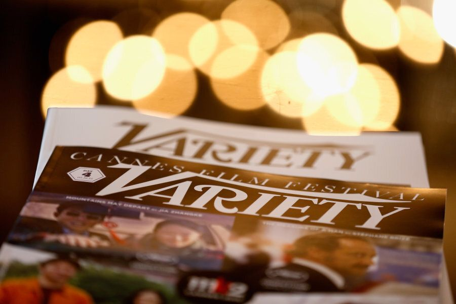 Variety magazine on display are seen during the Variety and UN Women's panel discussion on gender equality...