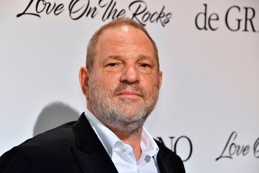Harvey Weinstein poses during a photocall as he arrives to attend the De Grisogono Party on the sidelines...