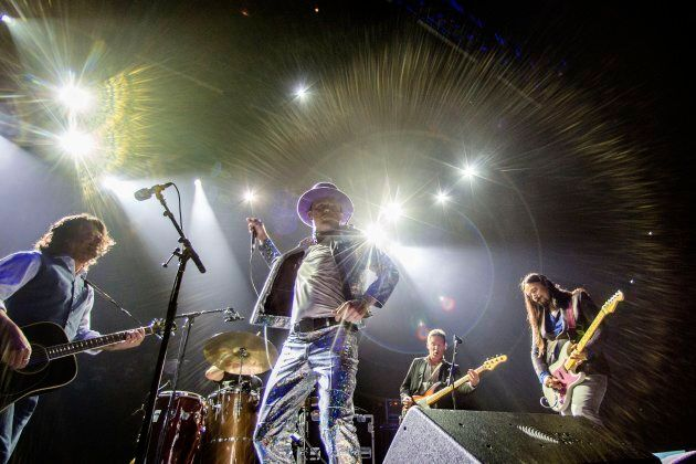 The Tragically Hip performs at the Air Canada Centre in Toronto as part of the band's Man Machine Poem