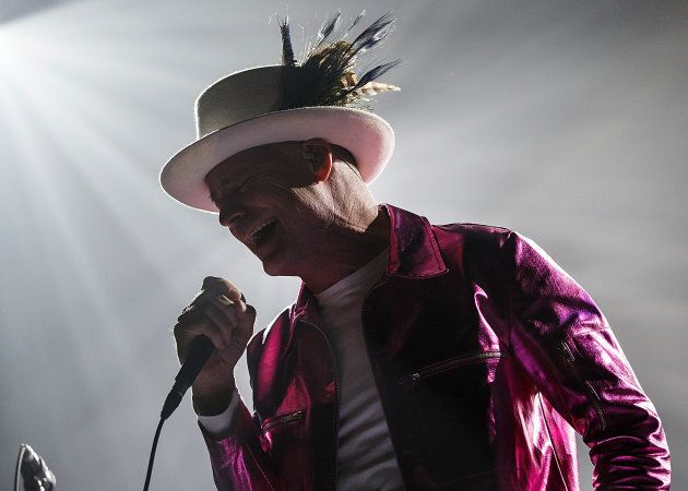Gord Downie of The Tragically Hip performs onstage during their Man Machine Poem Tour opener at Save...