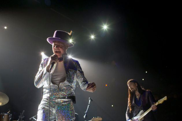 Gord Downie of The Tragically Hip performing at the Air Canada Centre in Toronto as part of the band's...