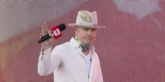 Tragically Hip frontman Gord Downie arrives at We Day on Parliament Hill in Ottawa on Sunday, July 2,