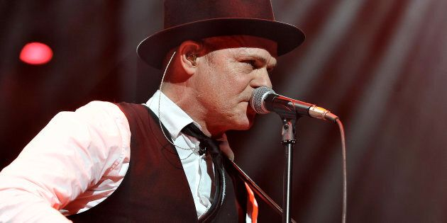 Lead singer Gord Downie of the Tragically Hip performs at Air Canada Centre on Feb. 14, 2013 in Toronto.