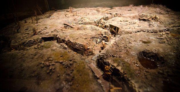 A diorama at the Canadian War Museum,