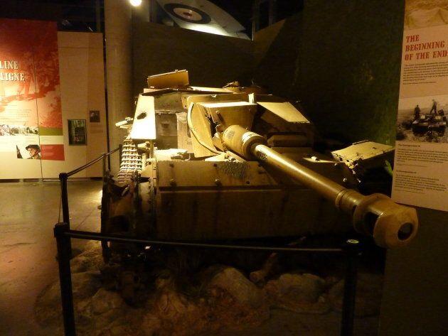 An exhibit at the Canadian War Musuem,