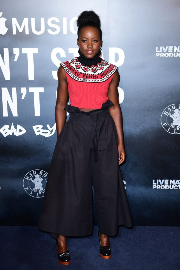 Lupita Nyong'o attending the Can't Stop, Won't Stop: A Bad Boy Story screening at the Curzon Mayfair, Curzon Street, London.