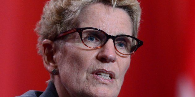 Ontario Premier Kathleen Wynne, seen speaking at news conference at the First Ministers meeting in Ottawa...