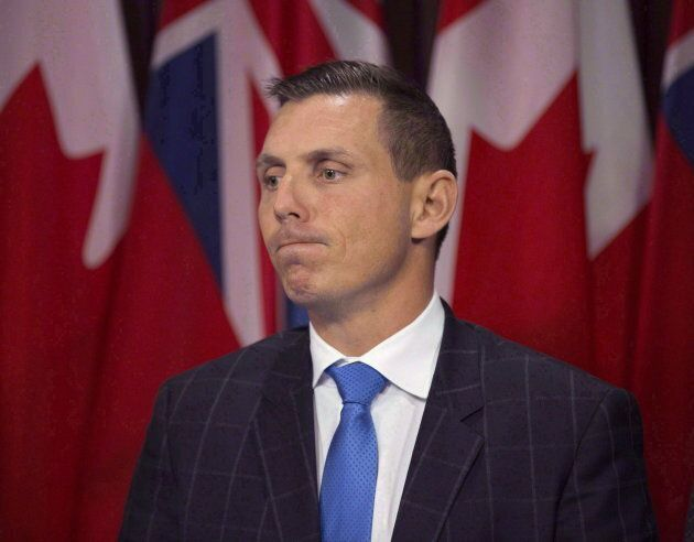 Ontario Provincial Conservative Leader Patrick Brown answering questions in second session of the 41st...