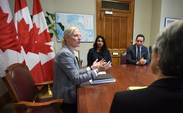 Environment Minister Catherine McKenna meets with members of the NAFTA Advisory Council in Ottawa on...