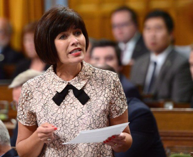 Health Minister Ginette Petitpas Taylor shown speaking during Question Period in the House of Commons...