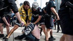 Violence Breaks Out As Far-Right Groups Protest In