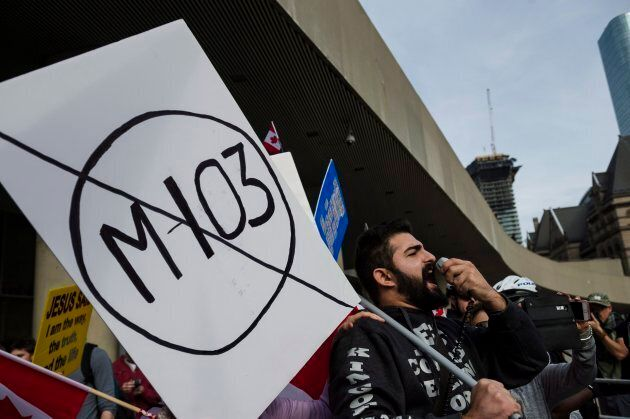 M-103 is a motion passed in the House of Commons condemning