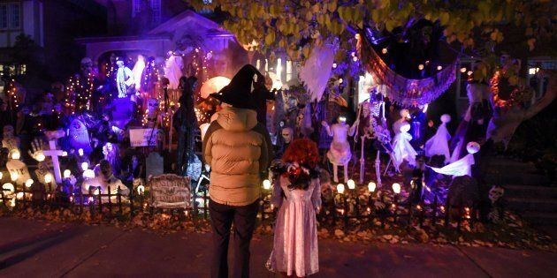 Children shown trick-or-treating in Ottawa on Oct. 31, 2016. Towns like Cornwall, Ont. and Regina are...