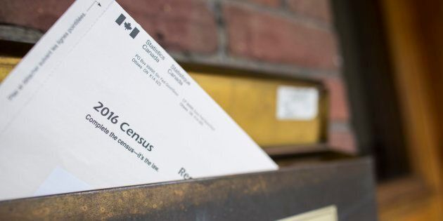 A copy of Statistics Canada's 2016 Long-Form Census mailer is seen in the mailbox of a residence in Toronto,...