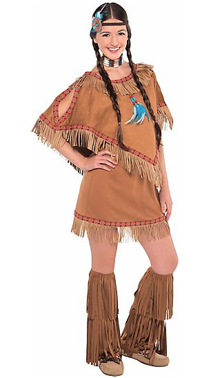 """A """"teen girls native princess costume"""" from Party City."""