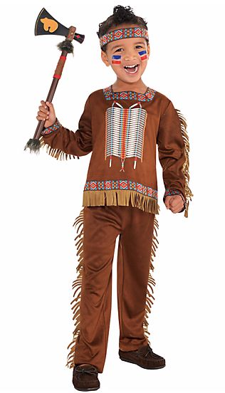 """A """"toddler boys native American costume"""" from Party City."""