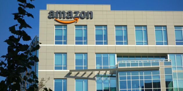 An Amazon corporate office building in Sunnyvale, Calif. Amazon says it has received 238 proposals from...