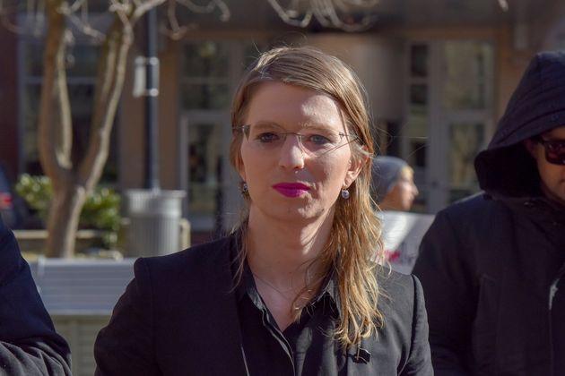 Chelsea Manning lors de son procès à Alexandria, en Virginie, le 5 mars