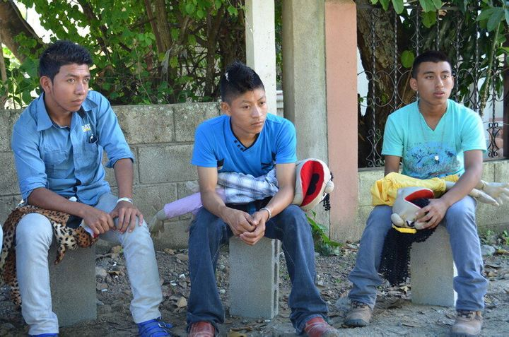 A group of young men meet to discuss gender rights in Guatemala.