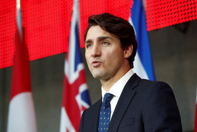 Prime Minister Justin Trudeau speaks during a press conference in Toronto on Oct. 17, 2017. The Trudeau...