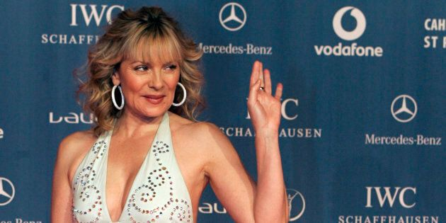 Kim Cattrall arrives for the Laureus Sports Awards in St Petersburg, Feb. 18, 2008. (REUTERS/Alexander