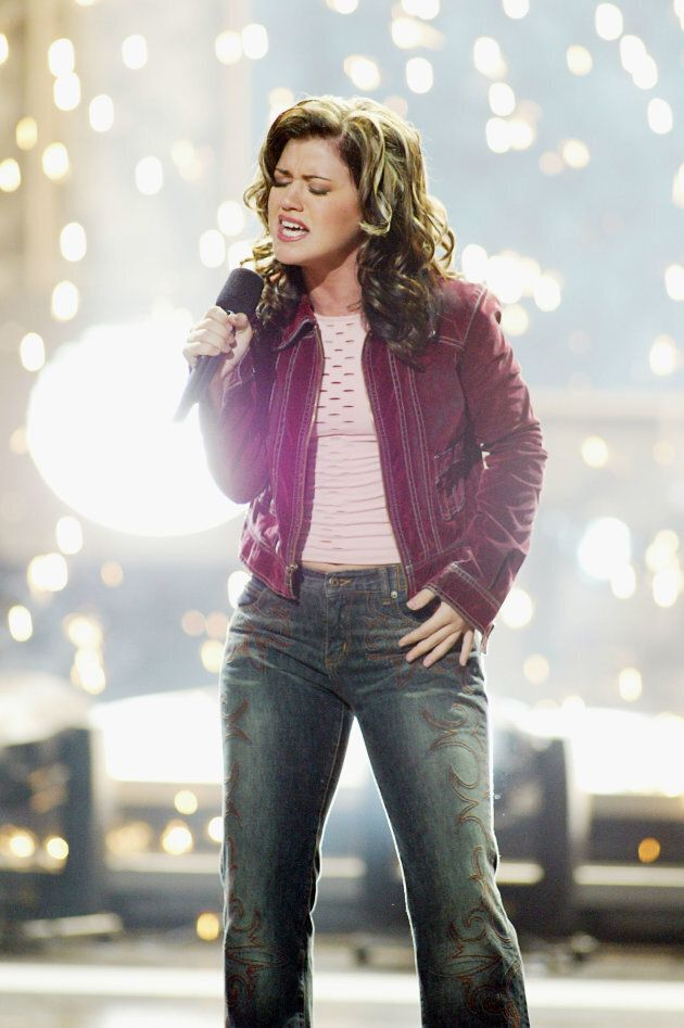 Kelly Clarkson sings after winning 'American Idol' on Sept. 4,