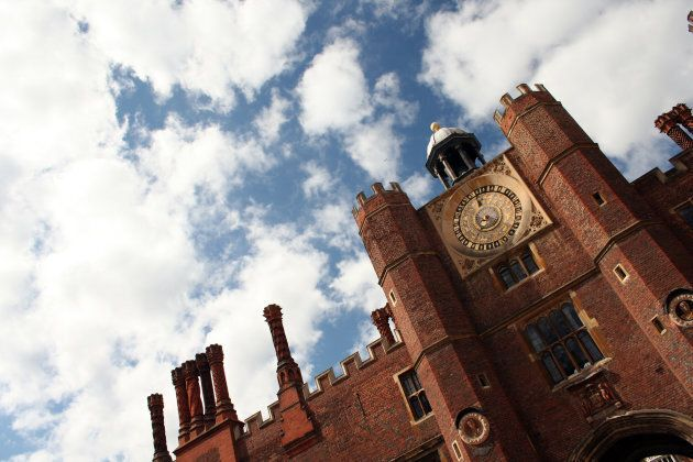 The Royal Clock at Hampton Court Palace.