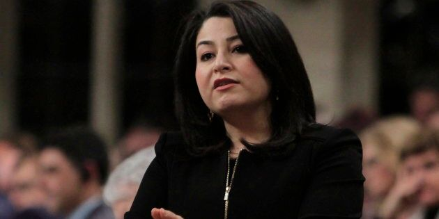 Minister of the Status of Women Maryam Monsef stands in the House of Commons on April 6, 2017.