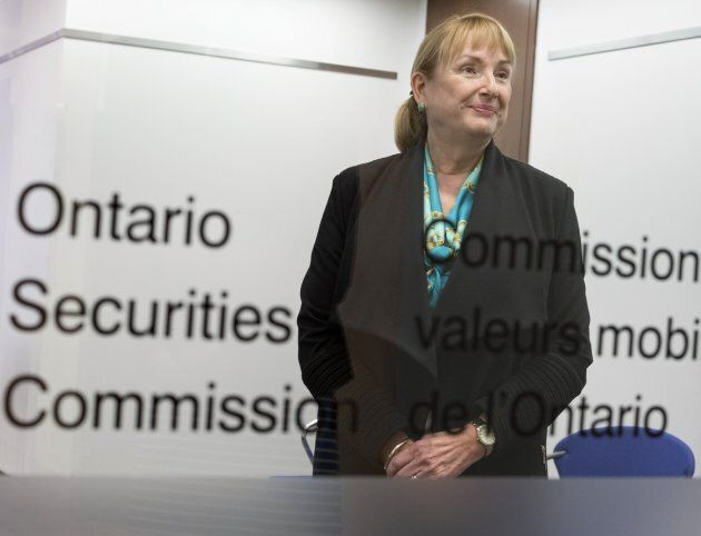 Maureen Jensen, the head of the Ontario Securities Commission, at the OSC offices on April 11, 2016....